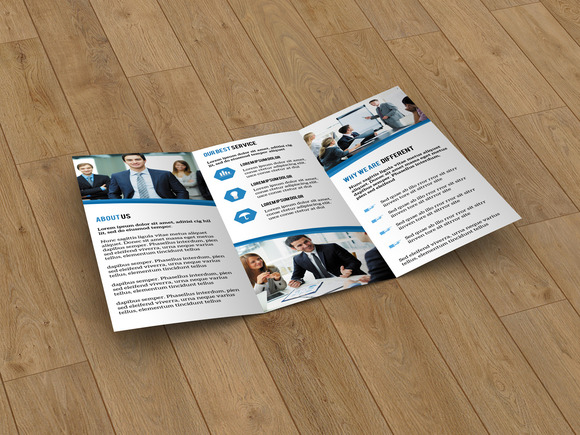 Corporate trifold brochure