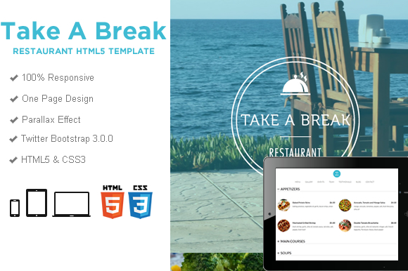 take a break  u2013 restaurant food html5