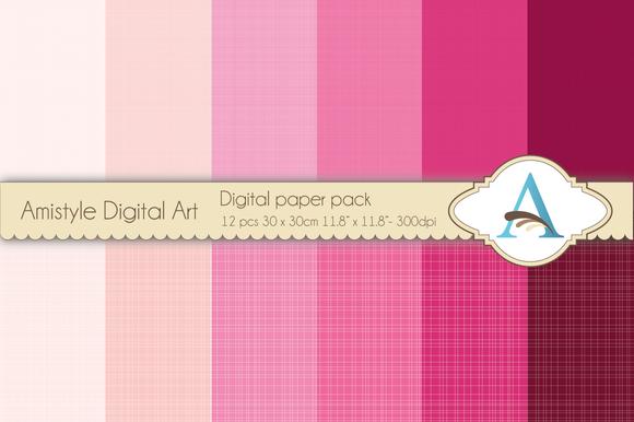 Linen Pink Digital Papers