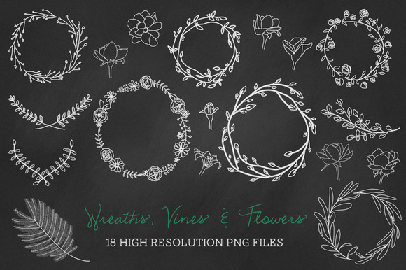 18 PNG Wreaths Vines Flowers