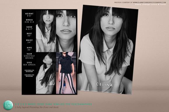 Model Comp Card 8.5x5.5 Fashion