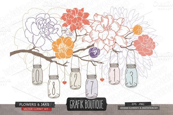 Hanging Jars Gardenia Peony