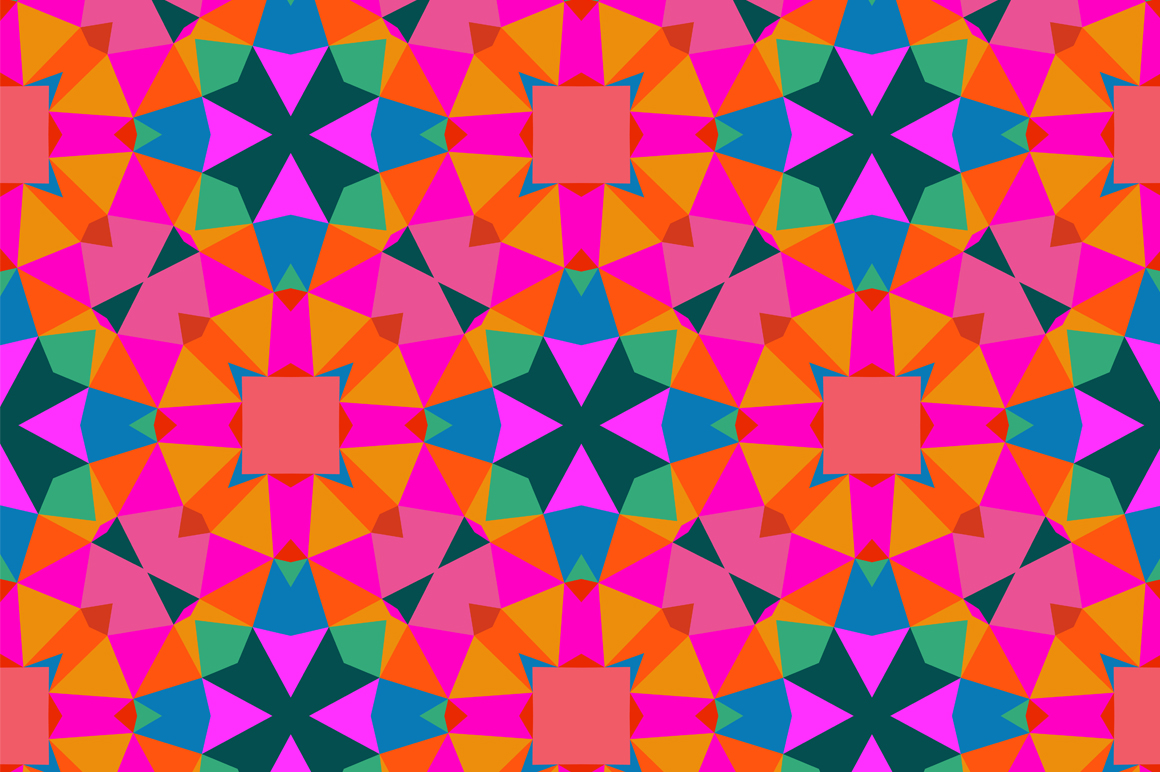 Geometric pattern in bright color patterns on creative Geometric patterns