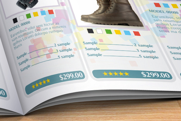 sample product catalogue template - product catalog brochure templates on creative market