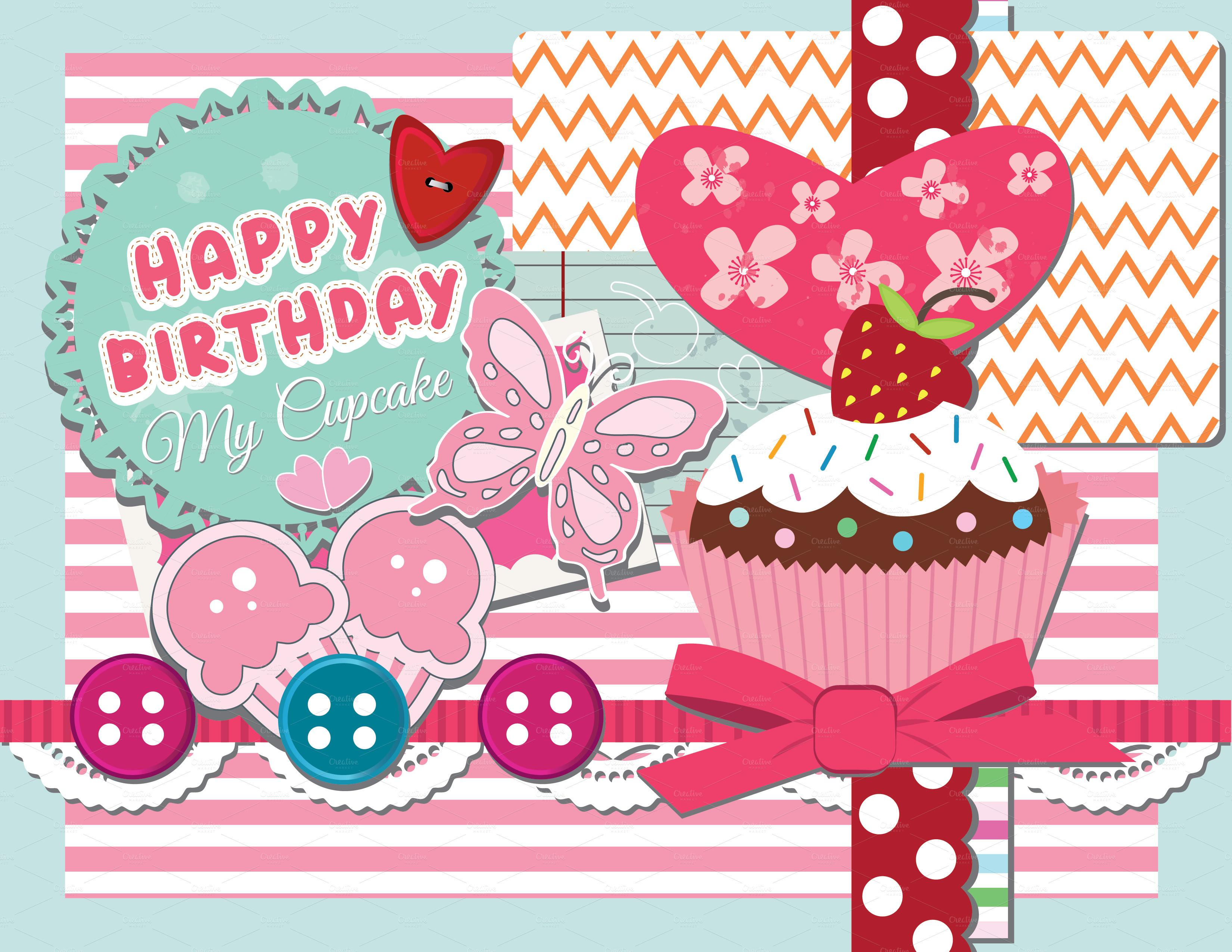 scrapbook happy birthday card  card templates on creative