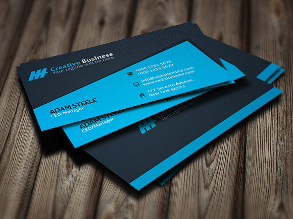 Blue Creative Business Card Template