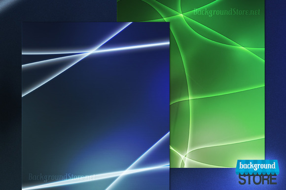 Glowing Shapes Background