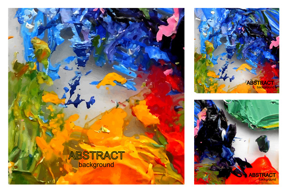Oil Paint Abstract Background