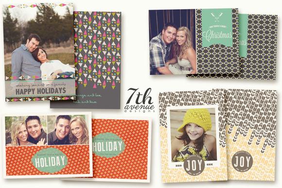Tribal Christmas Card Templates