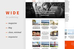 WIDE Magazine&Blog Template
