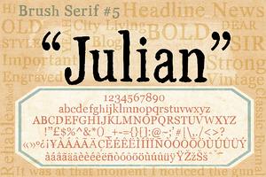 Brush Serif - Julian *HAND PAINTED*