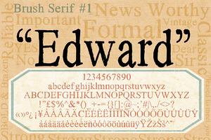 Brush Serif - Edward *HAND PAINTED*