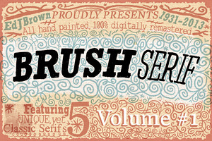$15 OFF! Brush Serif Family