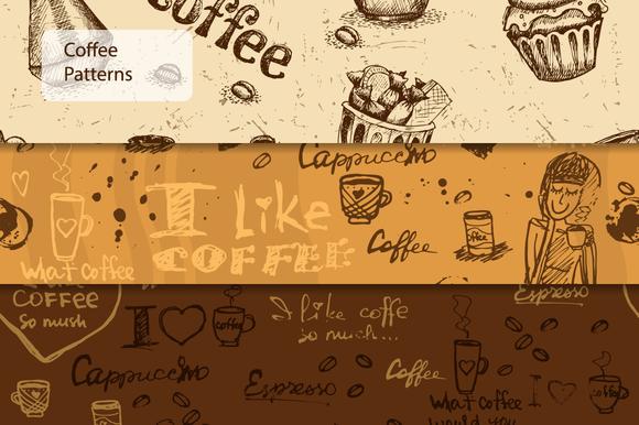 Seamless Coffee Patterns