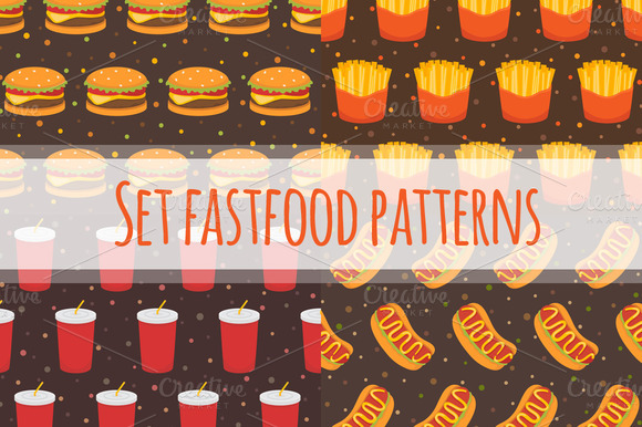 Set Fastfood Patterns