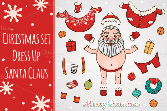 Christmas Set Dress Up Santa Claus