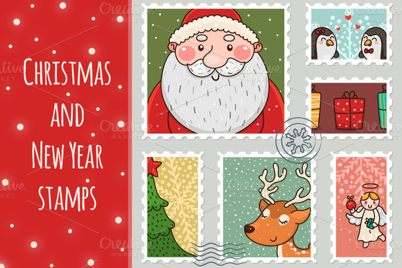 Christmas An New Year Stamps