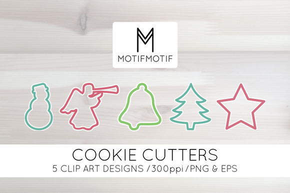 Christmas Cookie Cutter Clipart