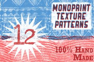 Handmade Monoprint Patterns!