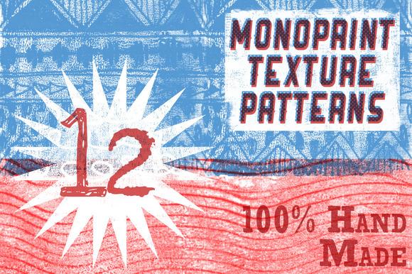 Handmade Monoprint Patterns