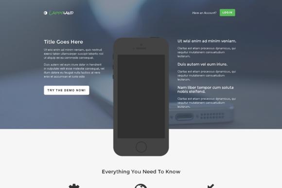 Lappoland App Landing Pages