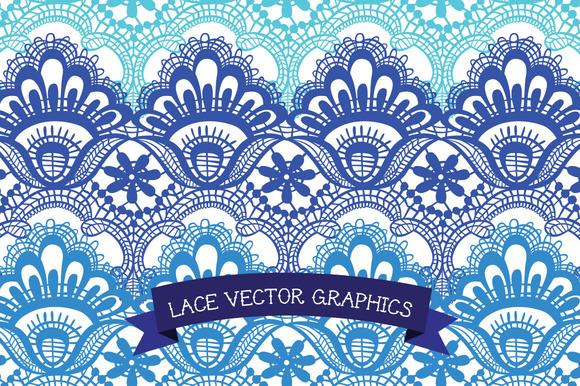 Vector Lace Border Clip Art