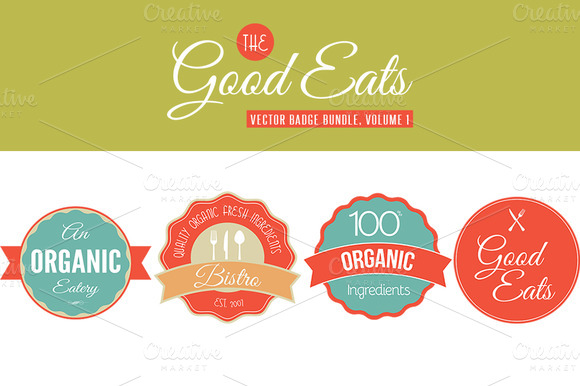Good Eats Vector Badges Vol. 1 - Objects