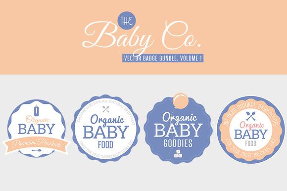 Baby Co Vector Badge Bundle Vol 1