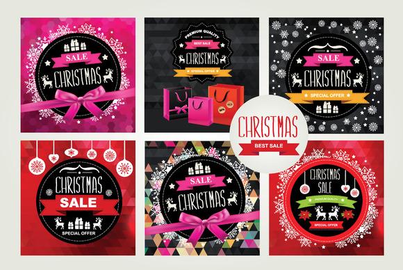 6 Christmas Sale Posters