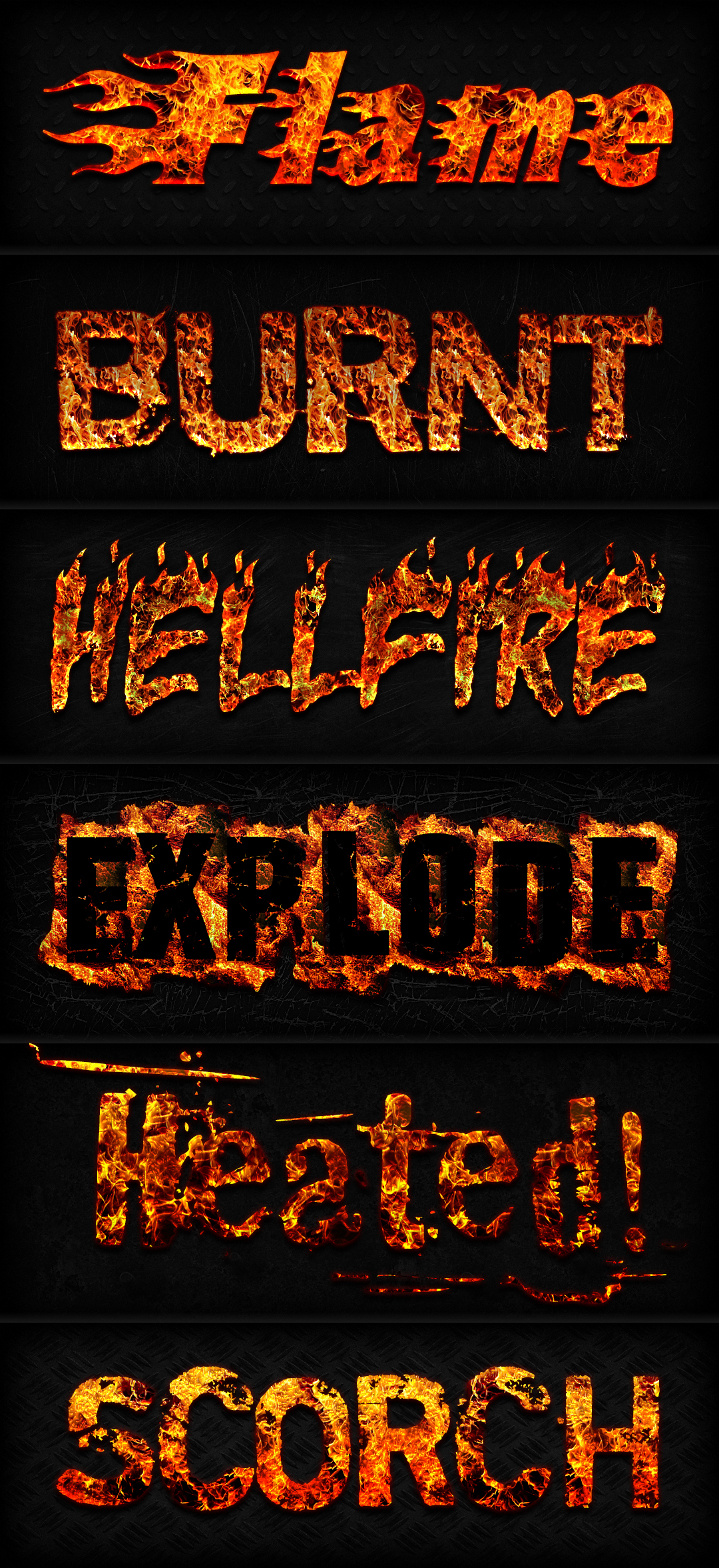 Fire Text Effects For Photoshop Layer Styles On Creative