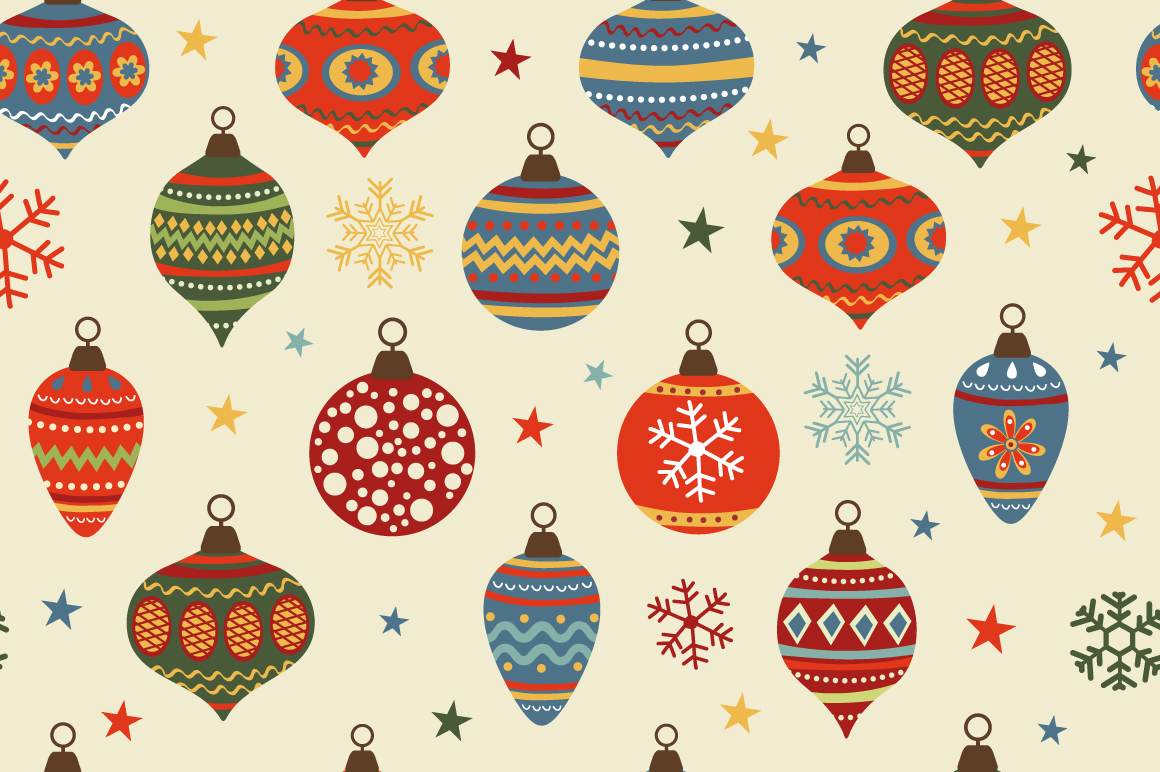 Christmas Pattern Background Tumblr Christmas baubles pattern o