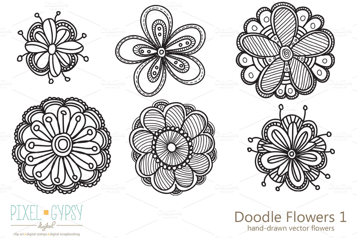 Pictures of Doodle Flowers - #rock-cafe