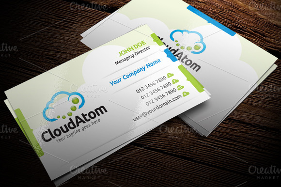 Cloud Service Minimal Business Card