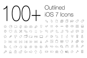 100+ Outlined iOS 7 Icons