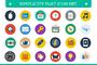 Flat Icon Set-Graphicriver中文最全的素材分享平台