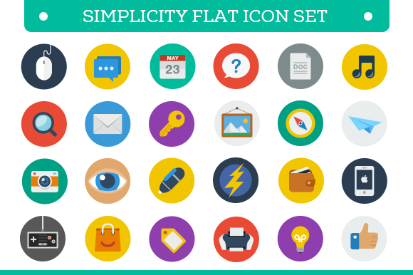 Flat Icon Set - Icons - 1