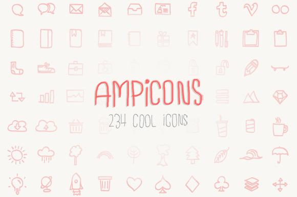 Ampicons 234 Brushed Icons