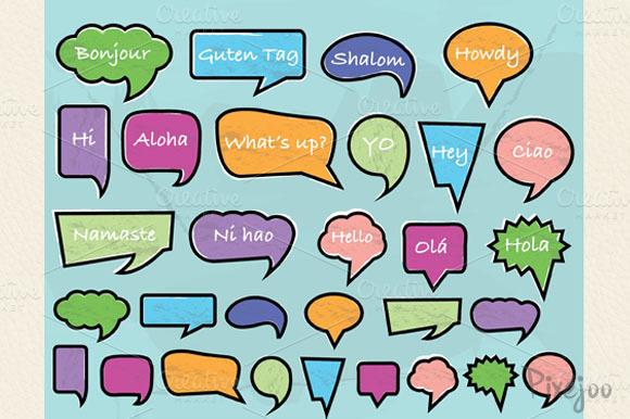 Speech Bubble Cliparts