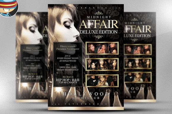 Midnight Affair Flyer Template