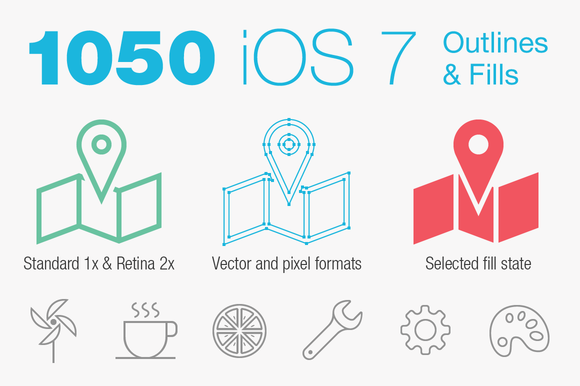 iOS 7 Tab Bar Icons by PixelLove.com - Icons