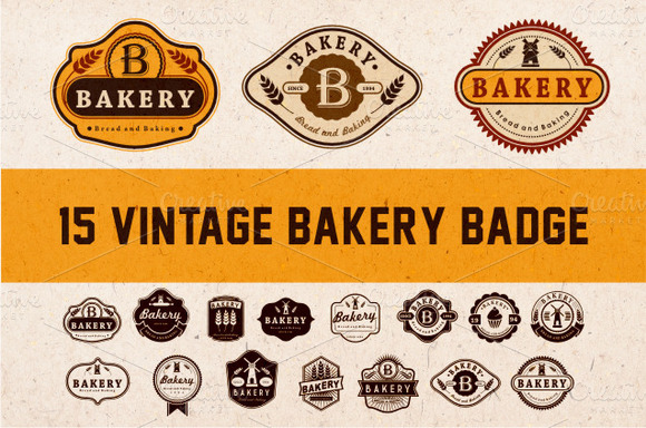 Bakery Vintage Badge