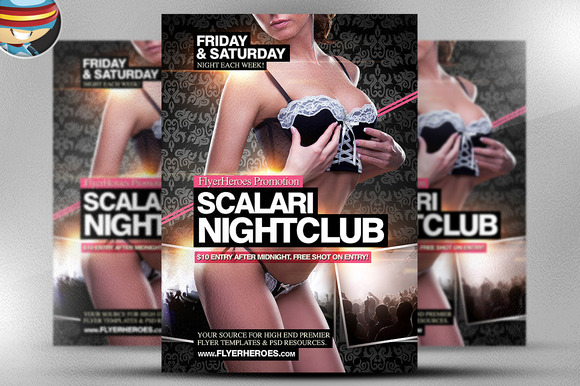Scalari Nightclub Flyer Template