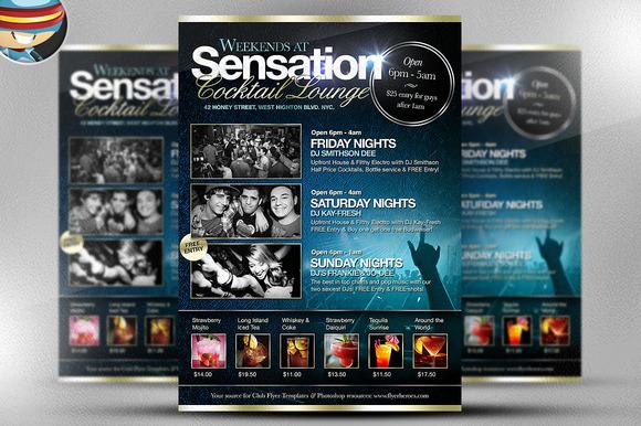 Sensation Cocktail Lounge Flyer