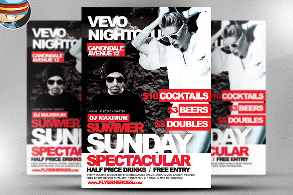 Summer Sundays Flyer Template
