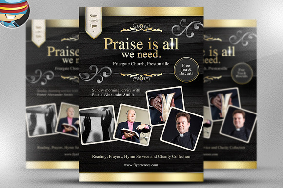 Praise Is All We Need Flyer Template