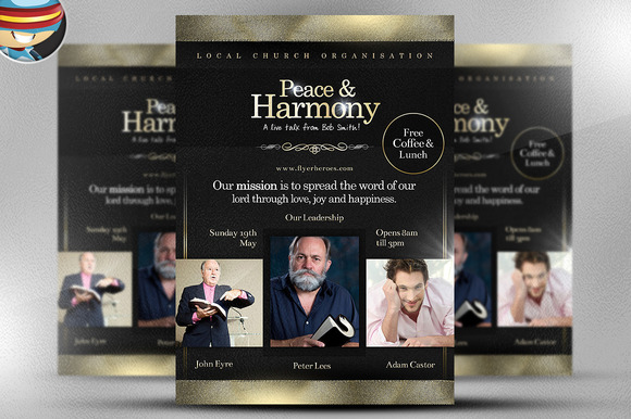 Peace And Harmony Flyer Template