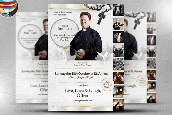 Live Love Laugh Flyer Template