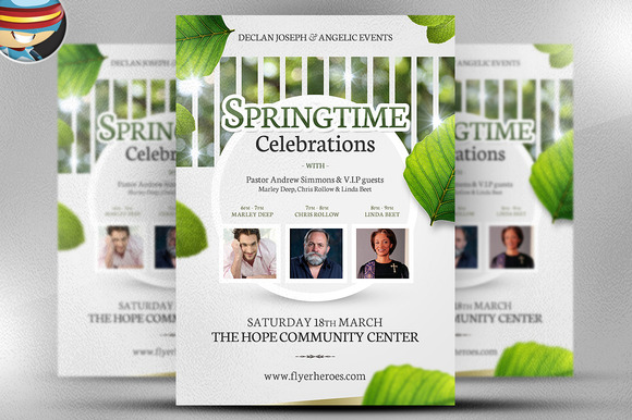 Springtime Celebrations Flyer