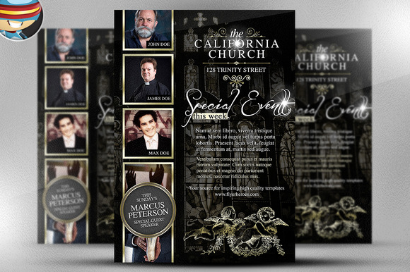 California Church Flyer Template
