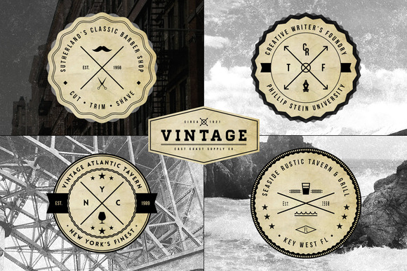 Vintage Logo Badge Templates